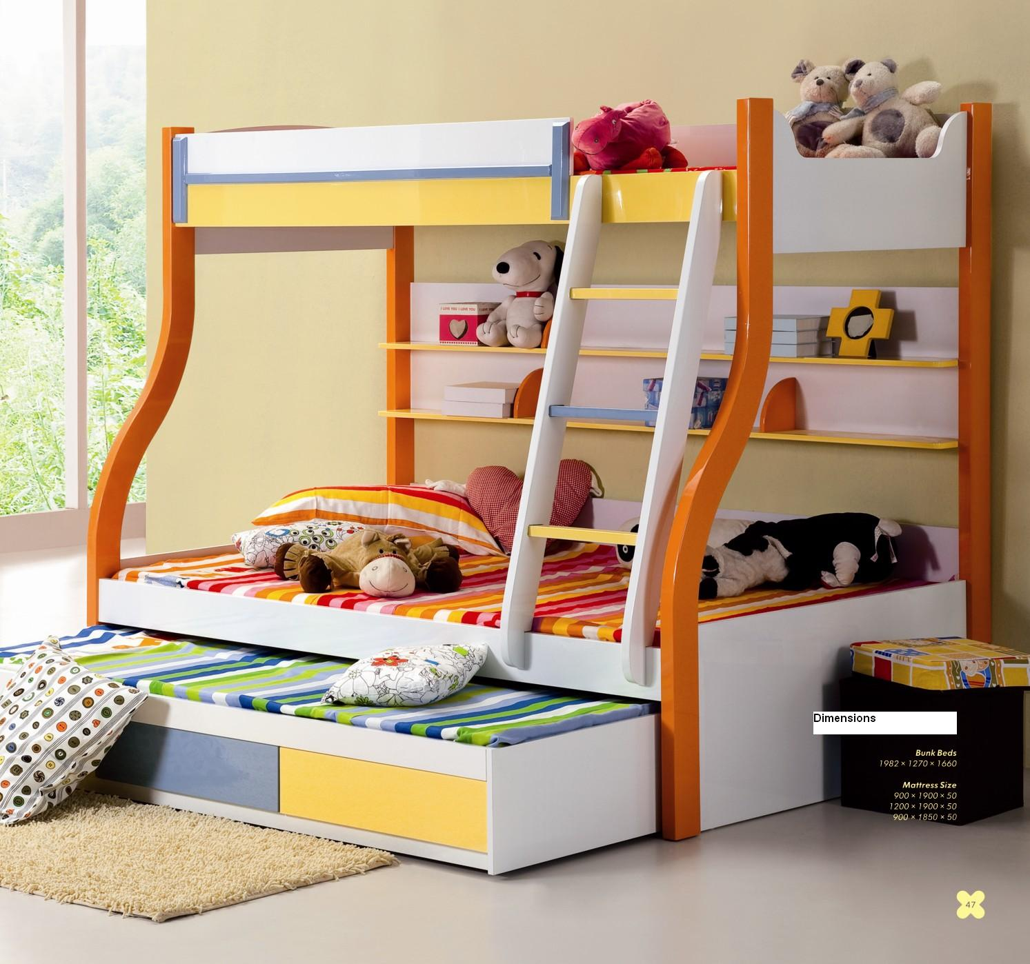 Triple Kids Bunk Bed