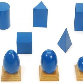 Montessori geometrical solids