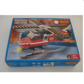COGO Helicopter Fire Fight Mega blocks #3904