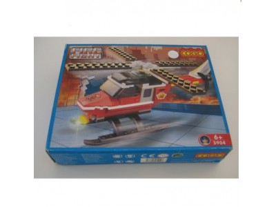 COGO Helicopter Fire Fight Mega blocks #3904