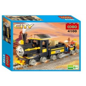 COGO City Thomas Train Self-Locking Blocks #4100