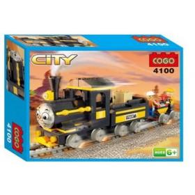 COGO City Thomas Train Self-Locking Blocks #4100