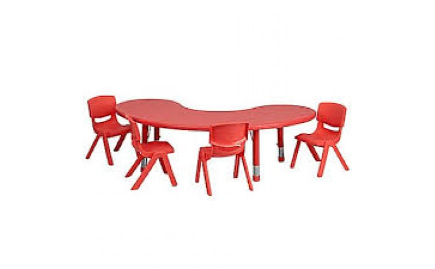 Front Round Table-Red (Chairs not included)