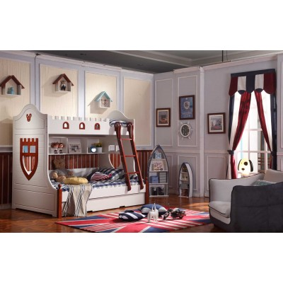Mickey Solid Wood Bunk Beds for Kids