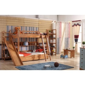 Bingo Solid Wood Bunk Bed with Slide