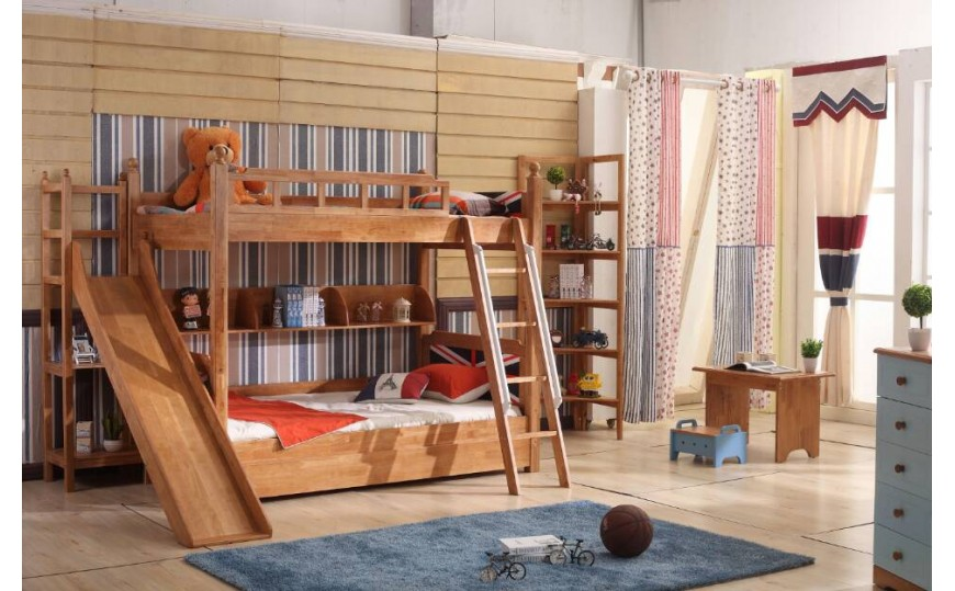 Buy Solid Wood Bunk Bed With Slide Online Kids Kouch India