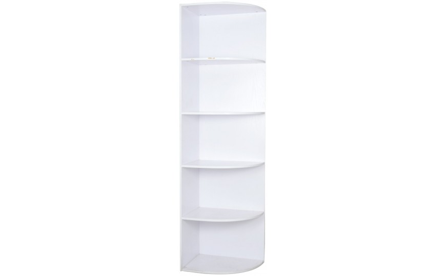 Triangular corner bookshelf in white color - Triangular bookshelf ...