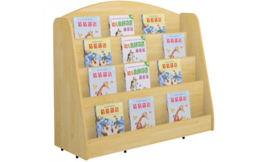 Maple Open Book Rack for Kids
