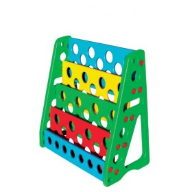 Open Faced Plastic Book Rack for Kids