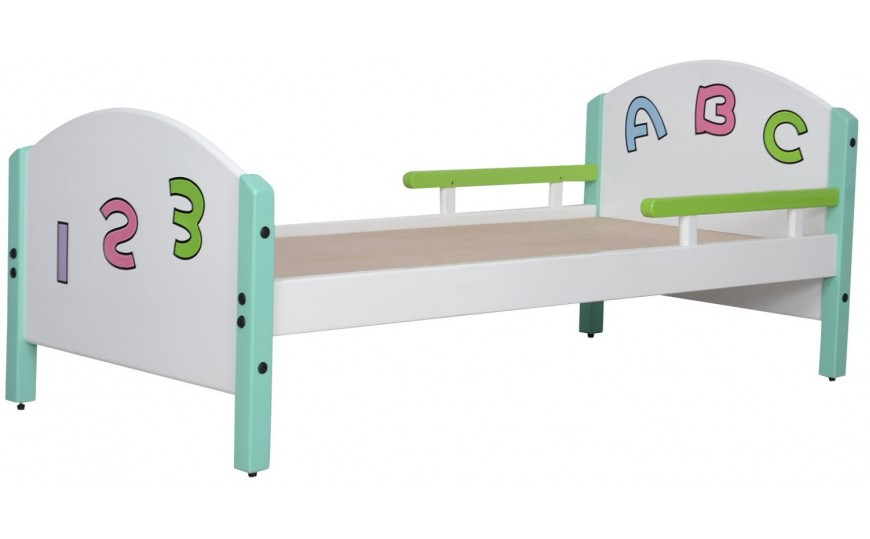 Toddler Bed ABC Multicolor