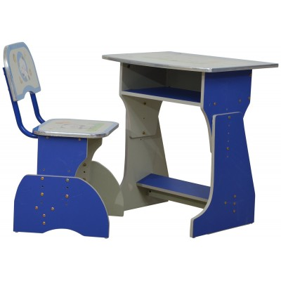 Walter Simple Study Table for Kids with Chair (BLUE)