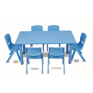 Rectangle Plastic Activity Table-Blue (Chairs not included)
