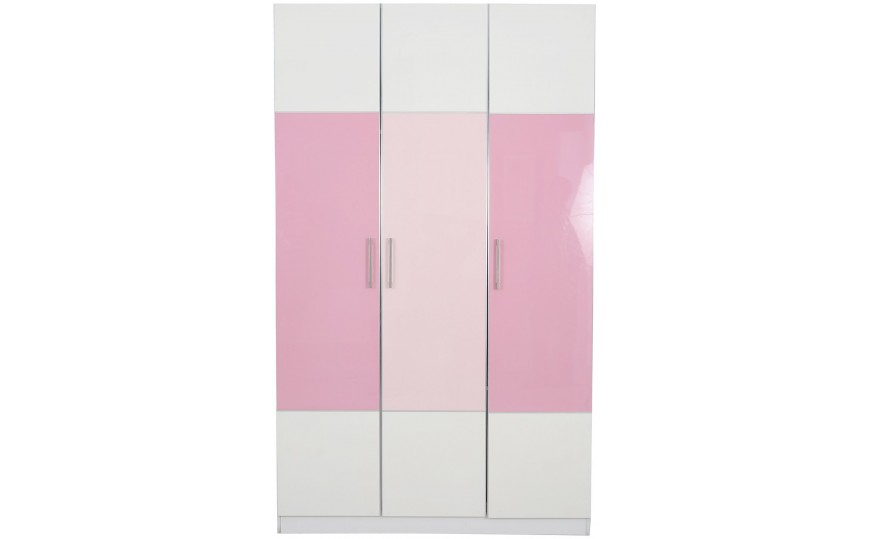 Bella Glossy Pink Kids Wardrobe Kids Cupboards Kids