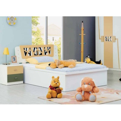 Jaubrun Kids Twin Bed in Neutral Colors