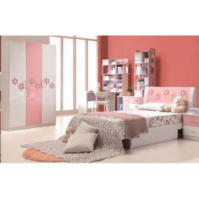 Annabelle Pink Floral Wardrobe for Kids
