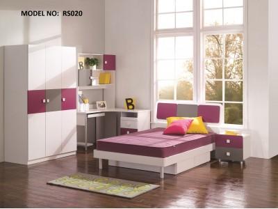 Magic Magenta, Grey and White Children Bedroom Set