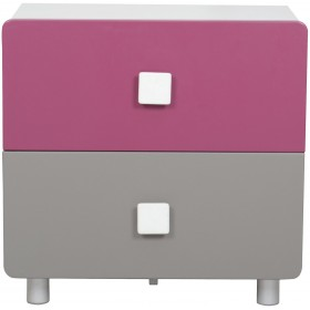 Magic Magenta and Grey Bedside Table