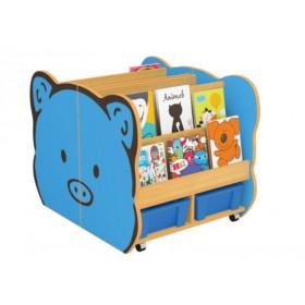 Pig Shaped Bookshelf for Kids