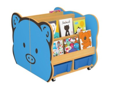 Pig Shaped Bookshelf for Kids