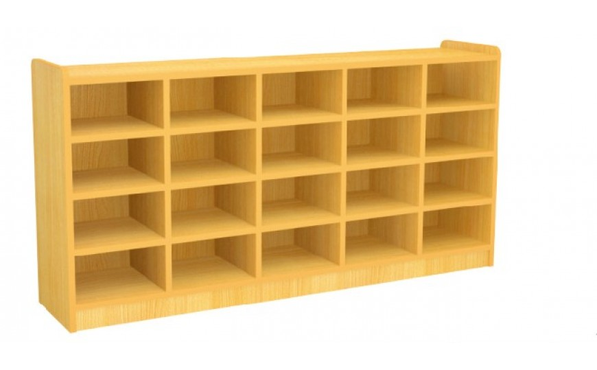 Open Shoe Rack with 20 Cubbies