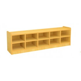 Open Shoe Rack with 10 Cubbies