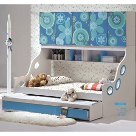 Ocean Blue Kids Trundle Bed