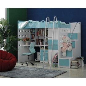 Sea Breeze Teen Loft Bed - Blue