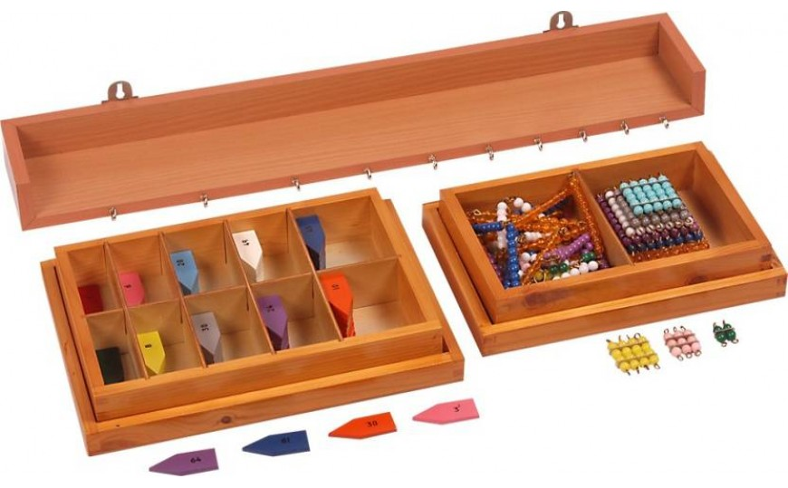 Montessori Materials-Arrows, Squares & Chains with Stand