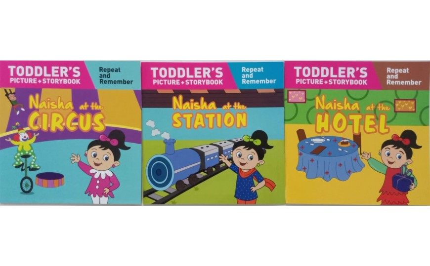 Naisha Series  (Toddler's Picture Story Book) Complete Set of 3 Books