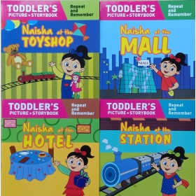 Naisha Series  (Toddler's Picture Story Book) Complete Set of 4 Books