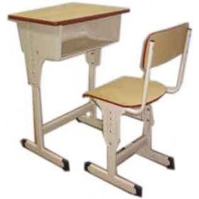 Single Desk and Chair Height Adjustable