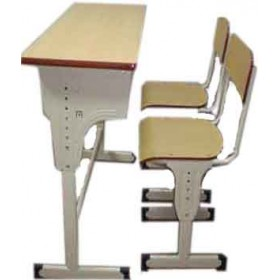 Double Seater Desk and Chair Height Adjustable