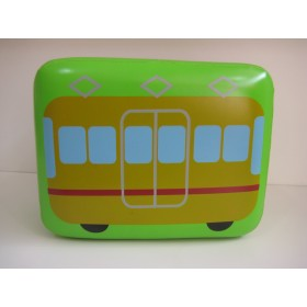 Kids Wooden Stool With Leather (Train)