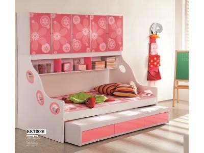 Fleur Floral Pink Kids Trundle Bed