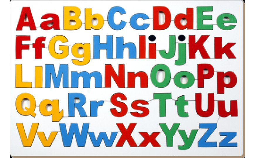 Uppercase & Lowercase Alphabets Combined