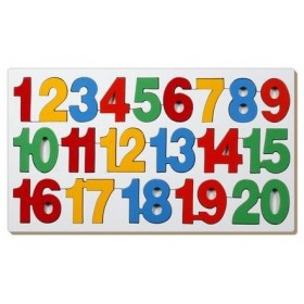 Little Genius AL08 Number Counting Tray 1 To 20 Wooden Toy