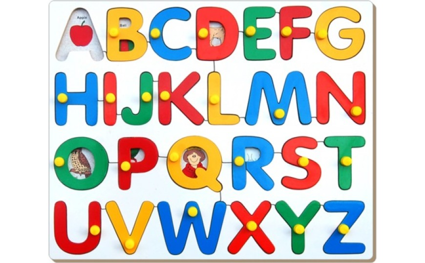 Alphabets Pictures Puzzle with Knob