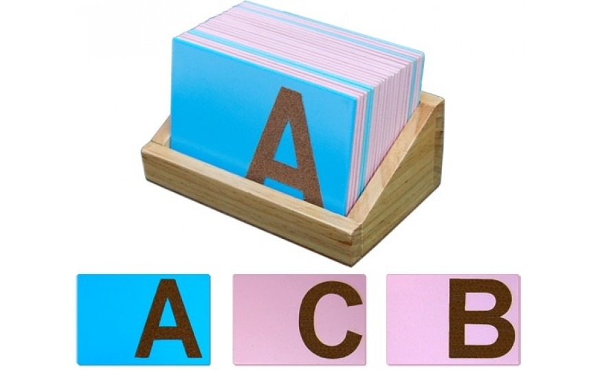 Montessori Materials - Sand Paper English Alphabets-Uppercase