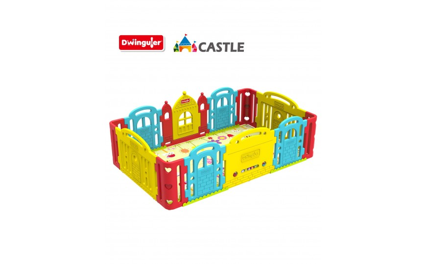 Dwinguler Castle Kids Playpen - Rainbow