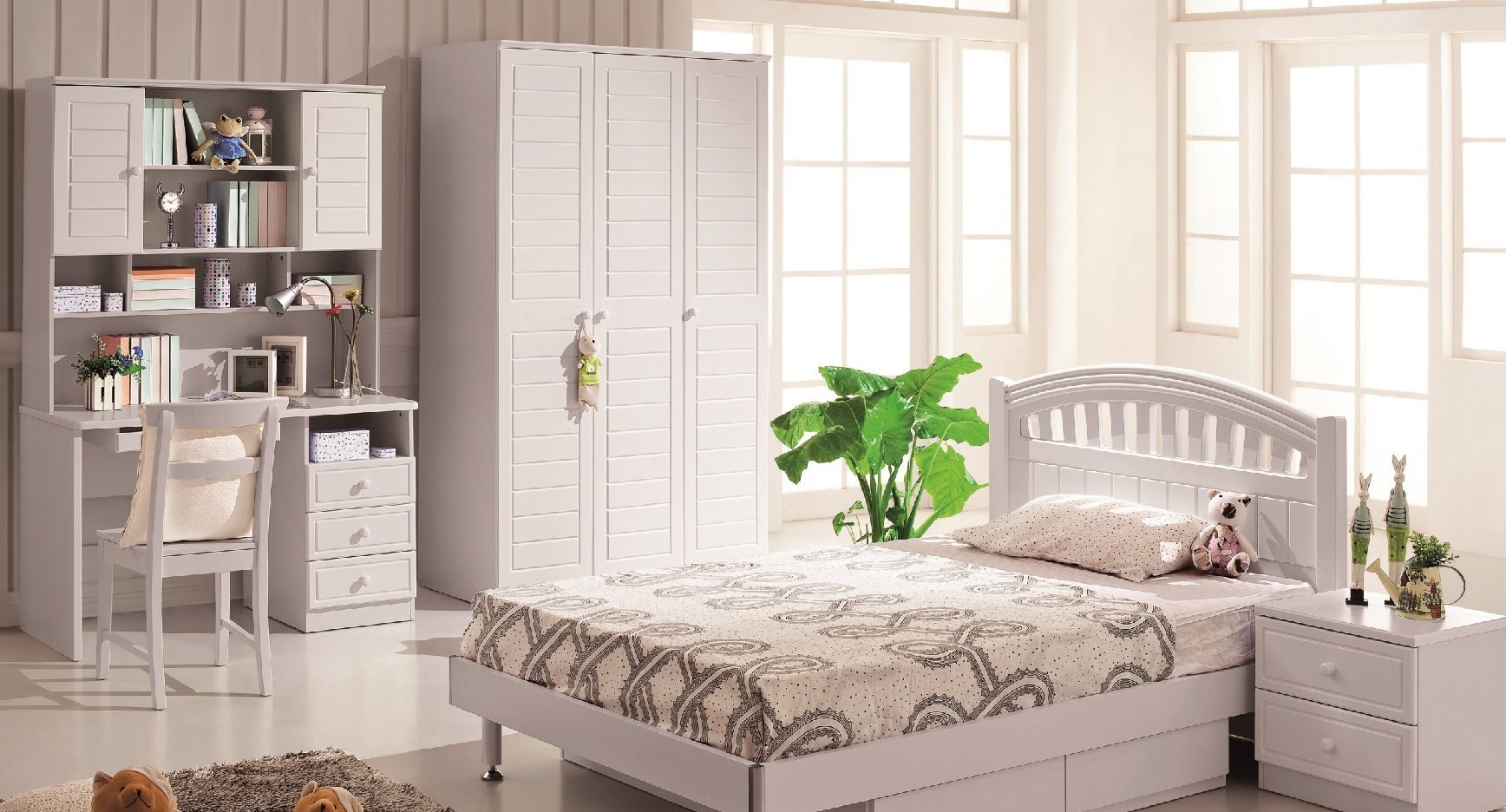 kids room furniture india. swan kids bedroom set of bed and study table for room furniture india