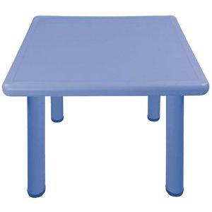 Square Activity Kids Plastic Table Blue